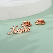 Custom Name Brooches For
