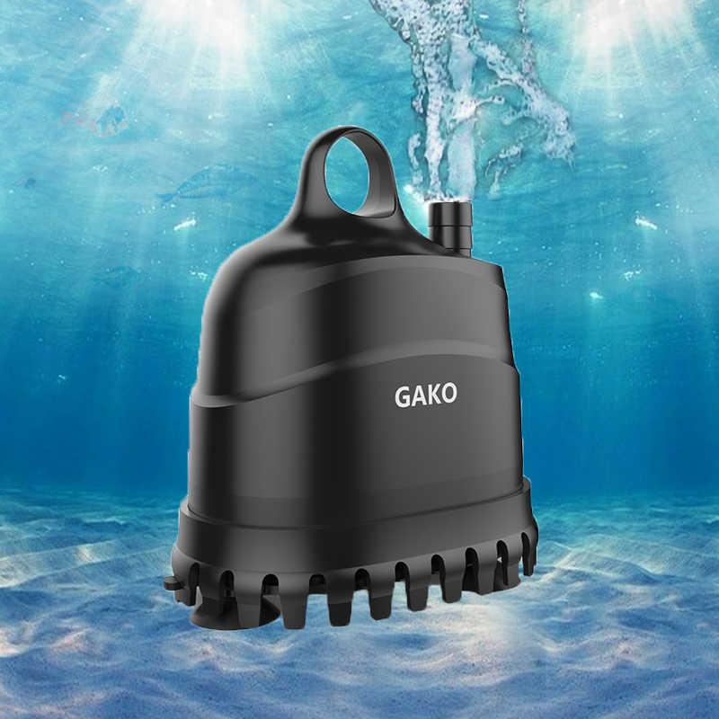 Gako Akuarium Air Pompa Tahan Air Sangat Tenang Pompa Air Submersible untuk Air Mancur Filter untuk Tangki Ikan Kolam Renang Air Mancur