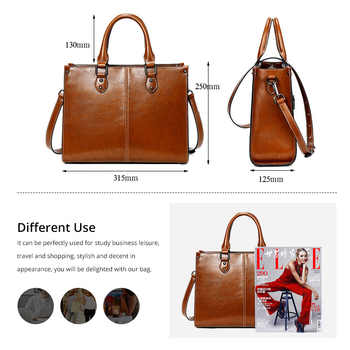 Yonder Leather luxury women handbags female vintage leather shoulder bag large capacity totes crossbody bags for ladies 2019