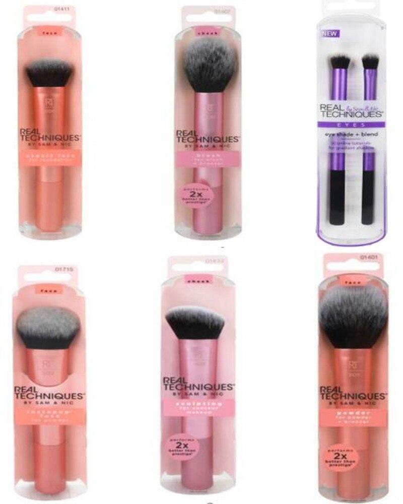 Make up Brushs Makeup sponge Maquillage Real Technique Makeup Brushs Powder Loose Box Belt foundation brush SCULPTING BRUSH
