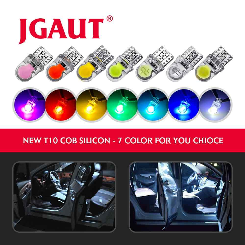 7 Colors Car T10 Led Headlight Blub T10 W5W COB Car Turn Side License Plate Parking Interior Light Lamp DC 12V