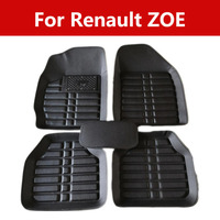 Fit Car Floor Mats Carpets 3d Durable And Dirty Leather For Renault Zoe All Weather Floor Mats