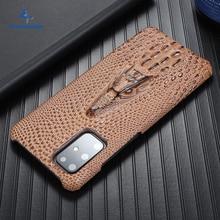 Süper anti sonbahar kılıf Samsung Galaxy S20 Ultra S 20 artı S10 artı durumda sığır derisi deri ağır koruma anti vurmak kapak