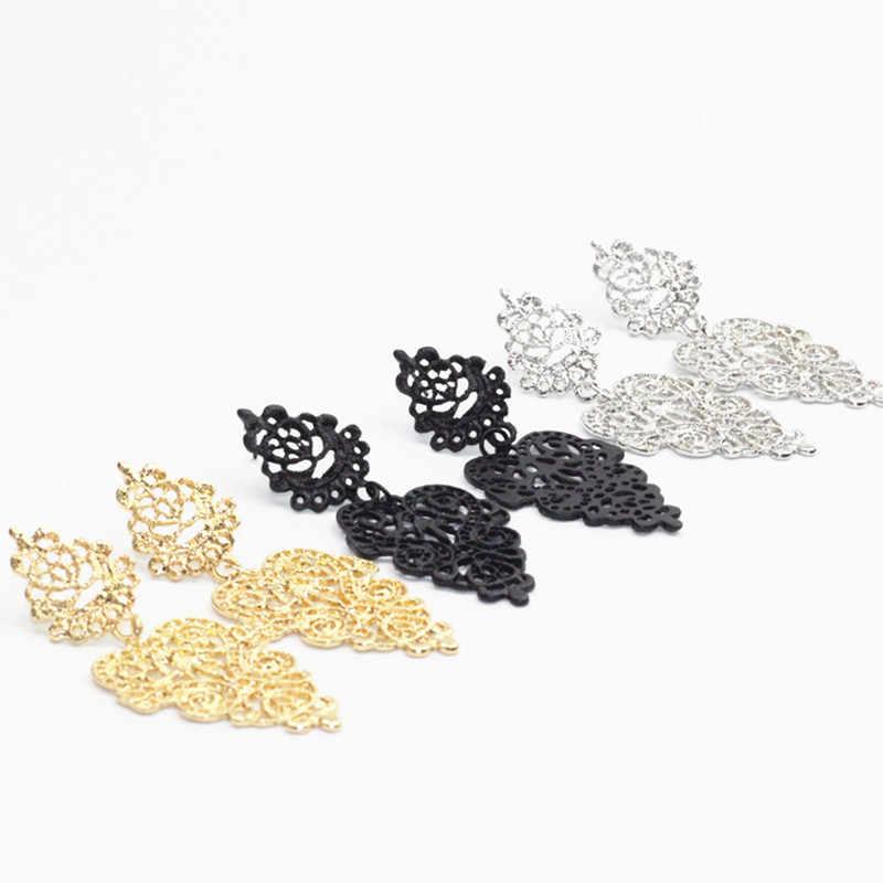 카터 리사 패션 원래 디자인 Orebellen Orecchini Brincos 보헤미안 야생 펜던트 드롭 귀걸이 여성을위한 신부 보석