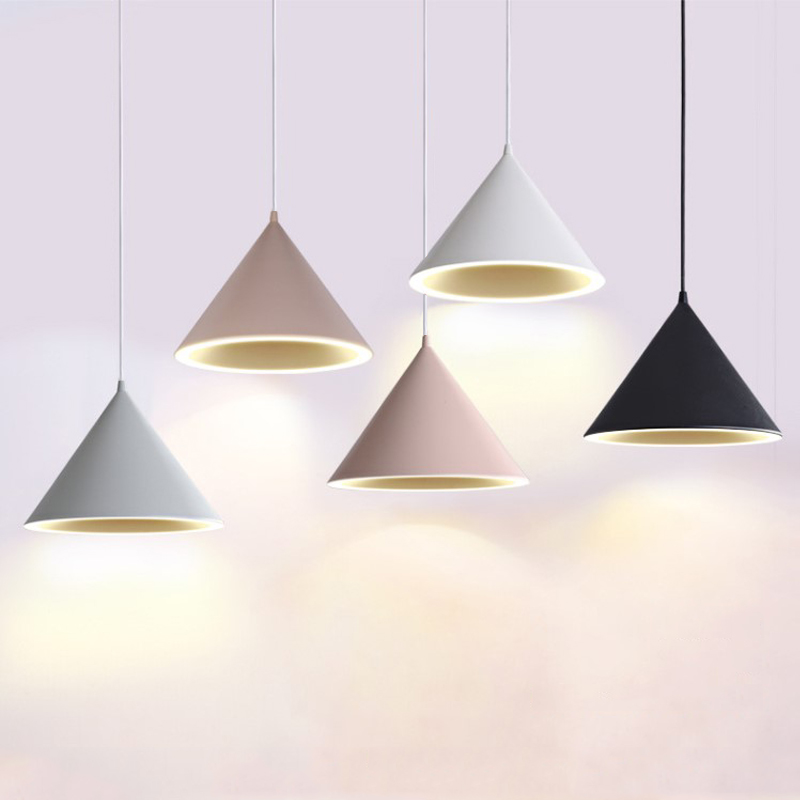 Nordic Simple Modern Chandelier Creative Personality LED Restaurant Light Macaron Style Restaurant Pendant Lamp Bar Lamp