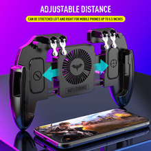 PUBG Mobile Joystick Controller Turnover Button Gamepad for PUBG iOS Android Six 6 Finger