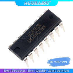 10PCS SN74HC139N DIP16 SN74HC139 DIP 74HC139N 74HC139 DIP-16 new and original IC