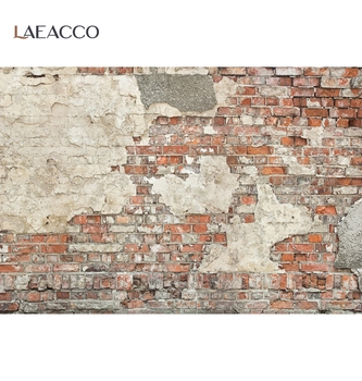 Laeacco Wall Backdrops For Photography Old Deserted Brick Pattern Party Baby Child Portrait Photographic Backgrounds