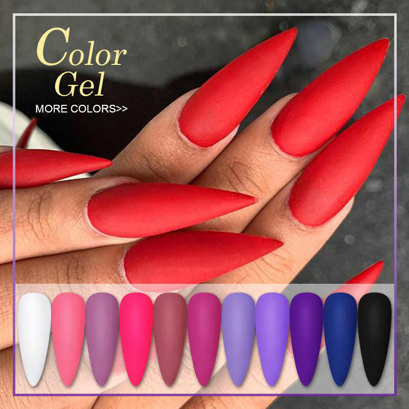 Whid Chicl 5ml Matte Uv Gel Nail Polish Color Gel Need Matte