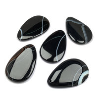 Wholesale Natural Stone Pendant & Necklace Water Drop Shape Agates Pendants Charms for Jewelry Making Women Men Jewelry 35x55mm