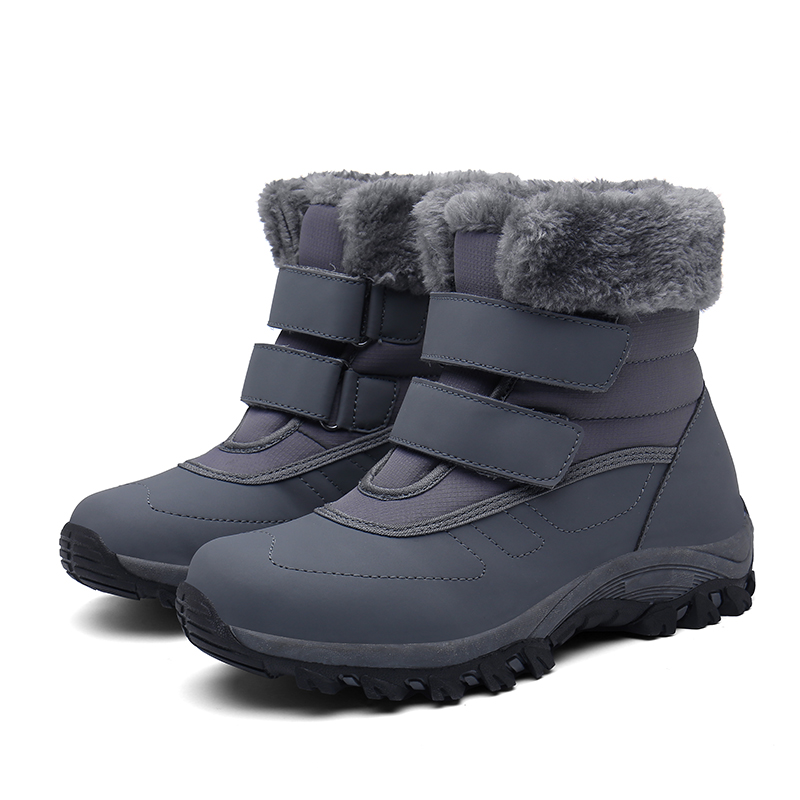Купить зимние женские кроссовки бархатная теплая походная обувь с крючком