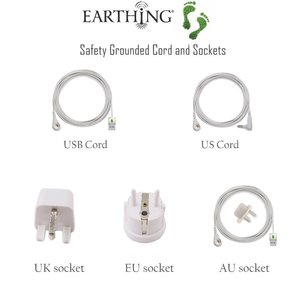 Image 5 - EARTHING Half Sheet Small stripe color Silver Antimicrobial Fabric Conductive Grounding kit set not included pillow cases