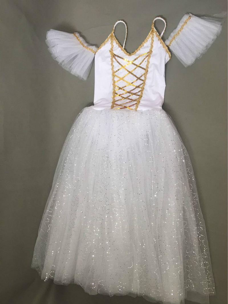 White Classical Ballet Tutu Women Kids Child Adult Long Ballerina Dress Ballet Costumes For Girls Swan Lake Performance Dance Wear