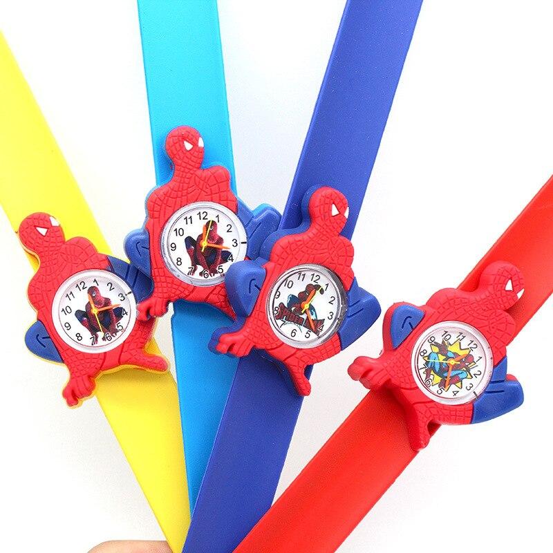 Disney Spider-Man Children's Quartz WristWatch Cartoon Silicone Watch Kids Watches Boys Fashion & Casual No Waterproof Silicone