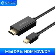 ORICO-minipuerto de pantalla DP a DP, adaptador de Cable HD unidireccional macho a macho, convertidor de Audio y vídeo para Macbook Air Pro