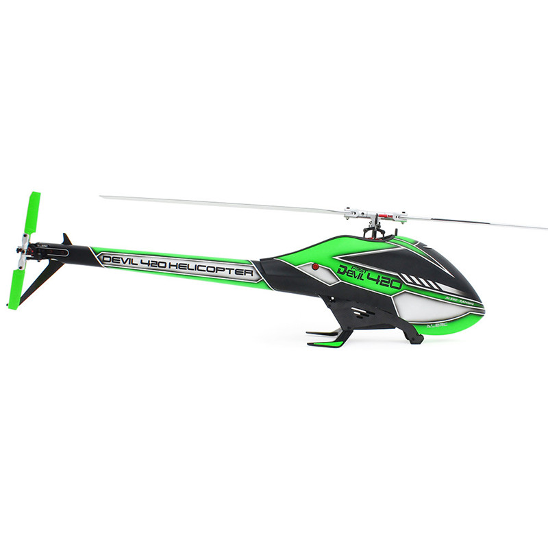 ALZRC Devil 420 FBL VELOCE 6CH 3D Rosso/Giallo/Verde Volare RC Elicottero Kit di Alta Qualità - 3