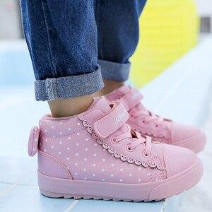 Image 4 - Детская зимняя обувь для девочек, детские теплые ботинки для мальчиков, новинка 2019, бархатные зимние ботинки для малышей, розовые кроссовки для девочек