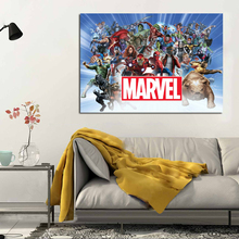 Nordic Style Canvas Painting Funny Superhero Cartoon Poster and Prints Wall Pictures For Kids Room Decorative Art Cuadros Decor