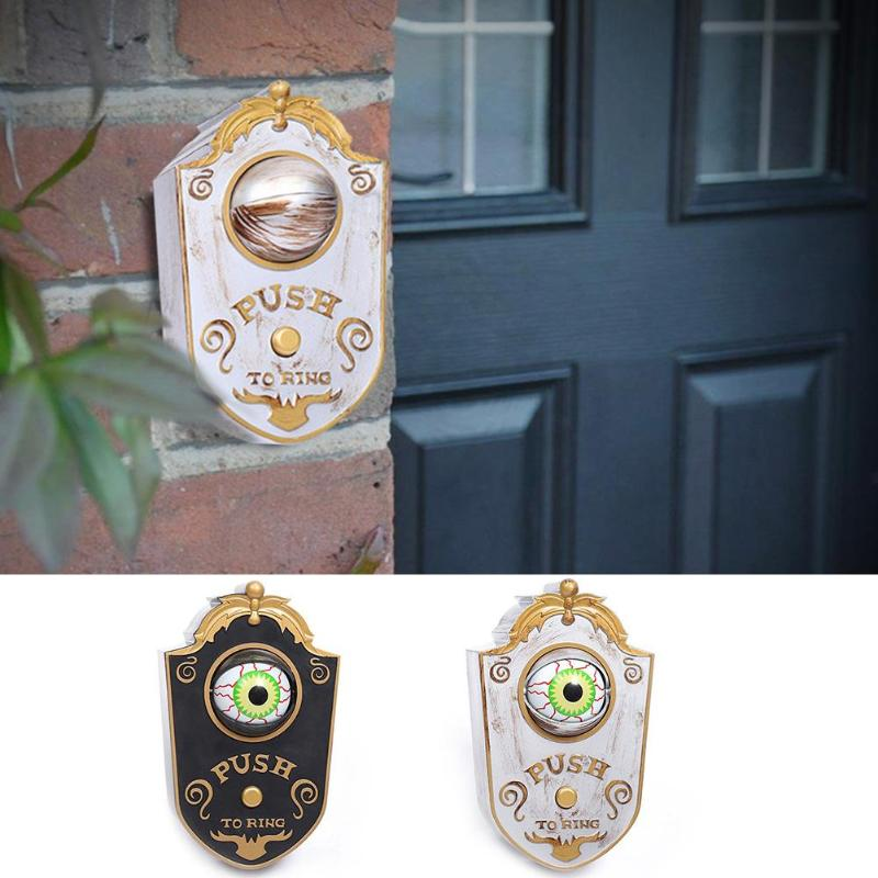 Doorbell Decoration Halloween Toy Fashionable Atmosphere Creative and Unique Bar Luminous Skull Pendant Trick
