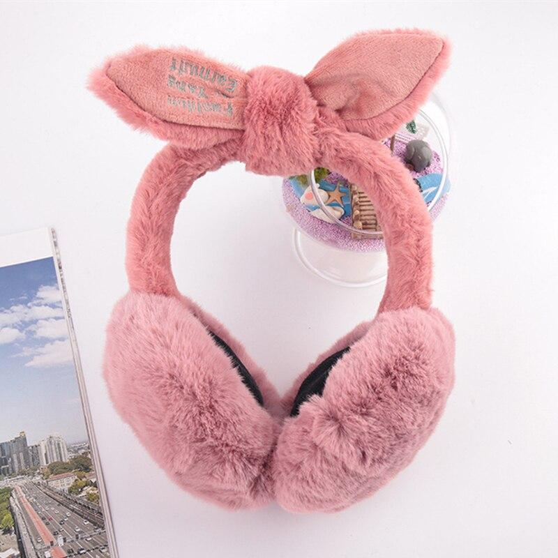 New Korean Version Of The Plush Winter Earmuffs Winter Female Cute Protective Rabbit Ears Warm Cartoon Earmuffs