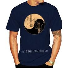 Men t-shirt Guitars Yin Yang Funny Electric Guitarist's Gift GAS G.A.S. tshirt Women t shirt