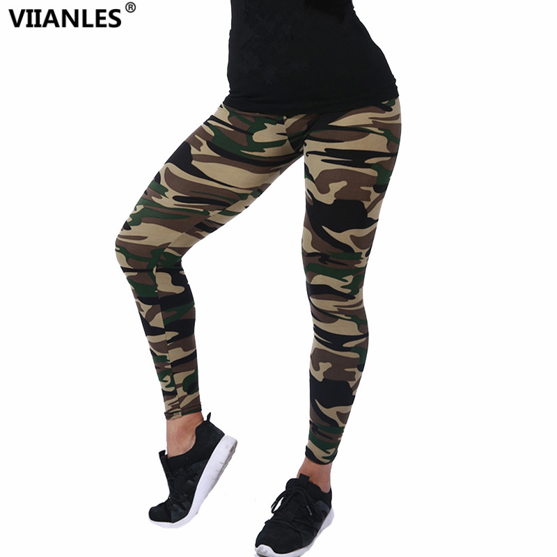 VIIANLES Fitness Legging Woman Clothes Camouflage Leggings Women Camo Trousers Military Army Summer Breathable Casual Pants