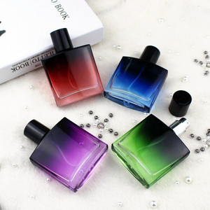 5pcs/lot 30ml Square Glass Perfume Bottle Empty Pump Spray Perfume Atomizer Refillable Cosmetic Container Portable(China)