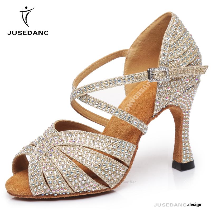 Latin Dance Shoes Woman Ballroom Dance Shoes Narrow Women  3inch Heel Salsa Sneakers  Girls Black Sandals For Girls  JuseDanc