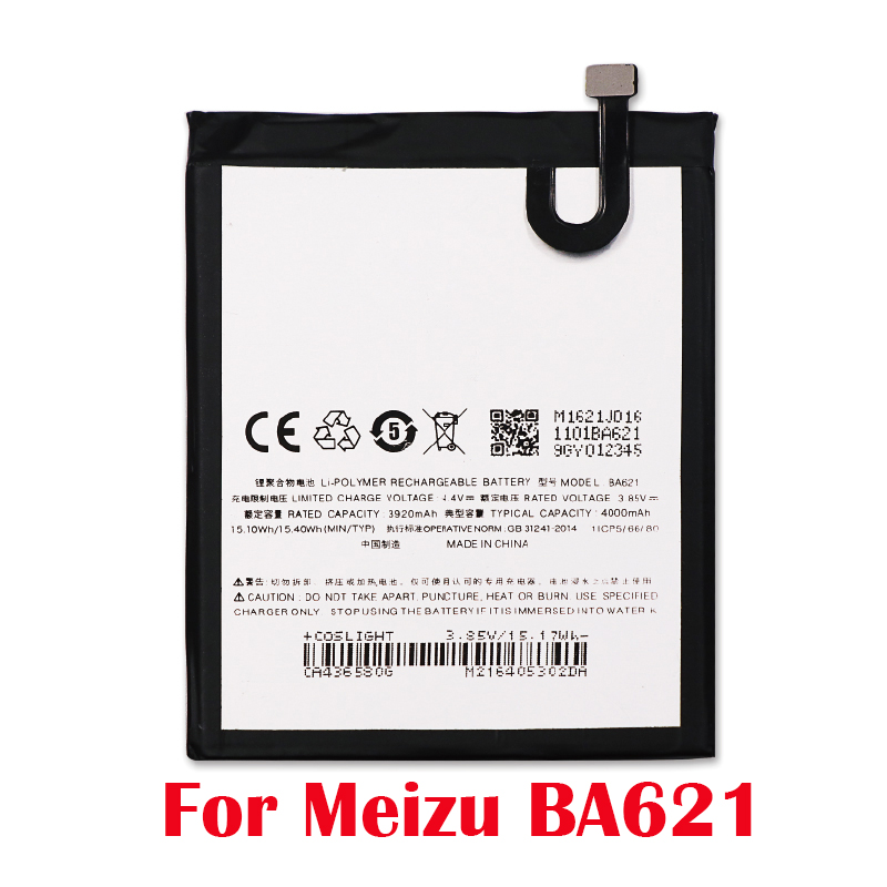 100% Original 4000mAh <font><b>BA621</b></font> For <font><b>Meizu</b></font> Note 5 Battery Batterie For <font><b>Meizu</b></font> meilan Note 5 M5 Note Battery+Tracking Number image