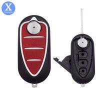 Xinyuexin dobrável flip remoto caso chave do carro escudo para alfa romeo 159 mito giulietta gta gto 3 botões substituição chave fob escudo