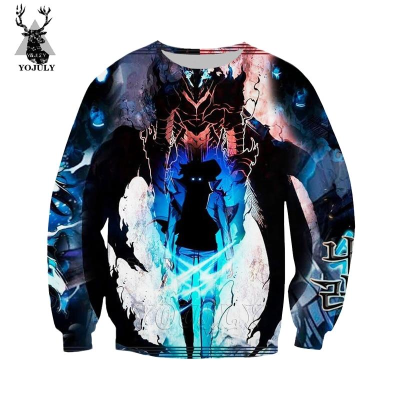 Solo Leveling Sweatshirt Fashion Off White Men's Hoodies 3D Print Anime Harajuku Hip Hop O-neck Long Sleeve Streetwear Tops W89