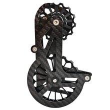 17t fibra de carbono bicicleta traseira desviador cerâmica polia rolamento para shimano dura ace ultegra 5800 6800 r8000 sram força etap