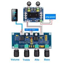 لوحة مكبر صوت مزدوجة NE5532 ، تعديل جهير ثلاثي ، معادل ، مضخم صوت