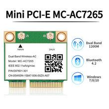 Беспроводной двухдиапазонный MC-AC7265 1200 Мбит/с Mini PCI-E Wifi Bluetooth 4,2 карта 2,4G 5 ГГц 802.11ac адаптер для ноутбука лучше 7260HMW