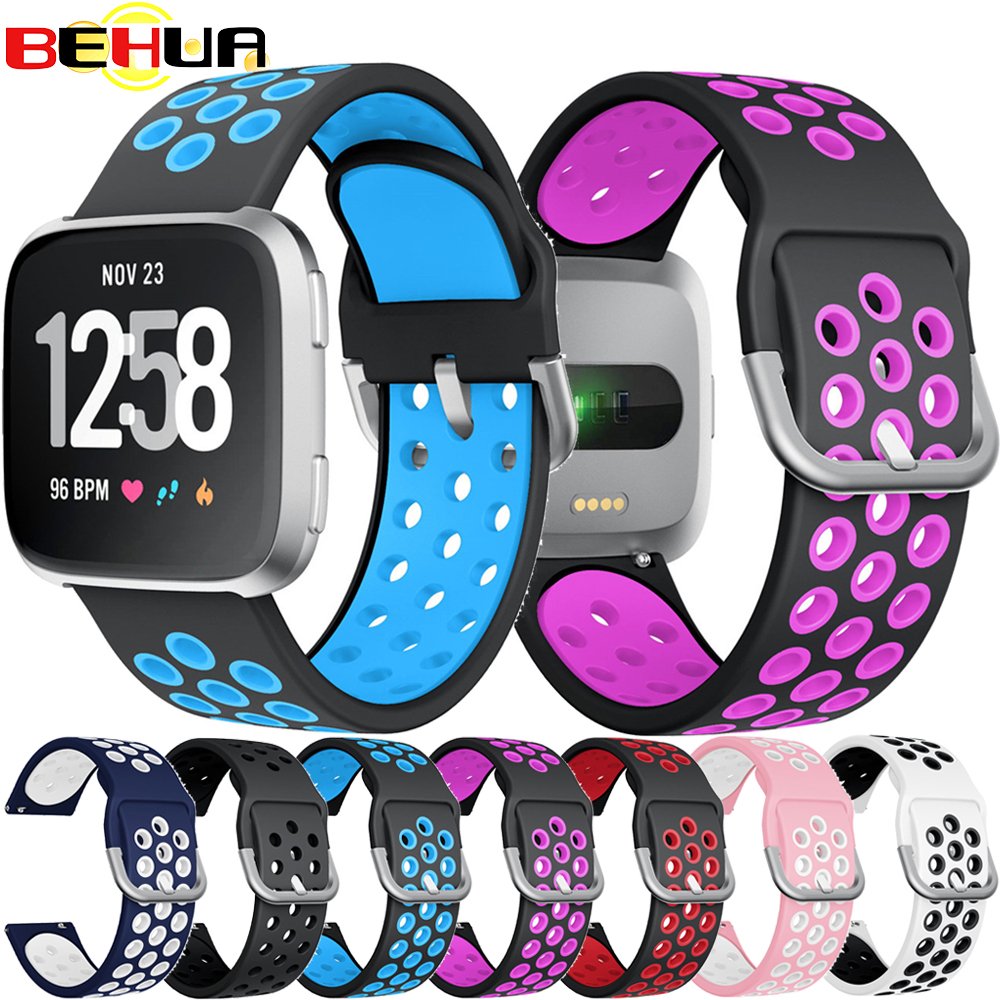Sport Soft Silicone Adjustable Band For Fitbit Versa Lite Wristband Strap Bracelet For Fitbit Versa 2 Watch Straps Accessories