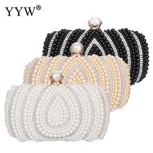 Dress Women Purse And Handbag With Pearl Luxury Handbags Women Bags Designer Rhinestone Sac Wedding Clutches Evening Party Bags trendy bridal handbag wedding ladies leather black clutch purse evening bags clutches womens luxury handbags women bags designer