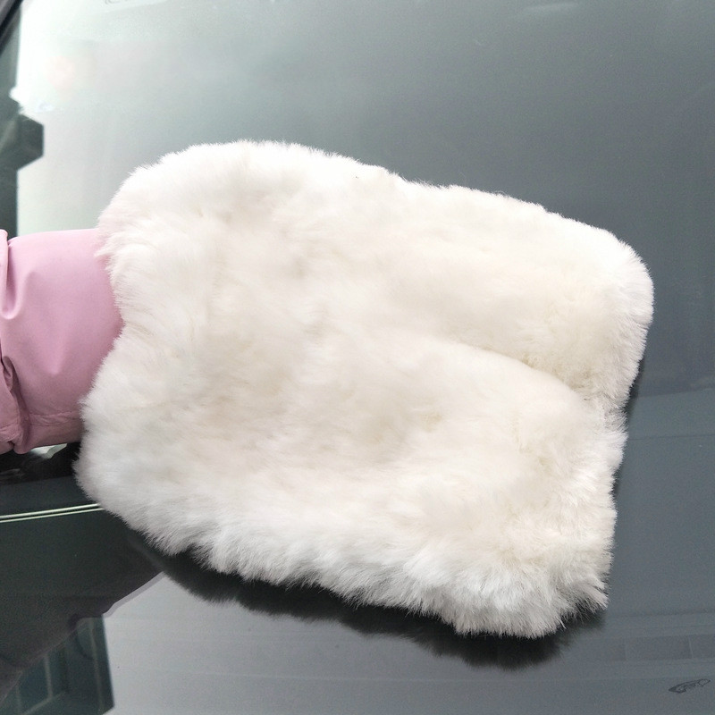 1pcs Double-sided Multi-functional Car-cleaning Gloves Plump Velvet Thicker Absorbent High-density Wool-cleaning Gloves