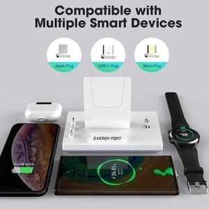 Image 2 - 2020 חדש 11th Gen 3 ב 1 40W מגנטי מהיר טעינת Dock אנרגיה מבצר עבור Huawei iPhone סמסונג 3A 5A מגנט טעינה מהירה מטען