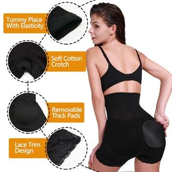 VASLANDA Butt Hip Enhancer Padded Shaper Tummy Control Panties Underwear Booty Lifter Briefs Shapewear Safety Shorts Under Skirt 4