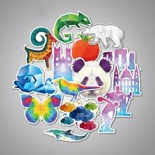 35PCS Diamond Design Animal Stickers Cute Cartoon Educational Toy for Kids DIY Laptop Suitcase Bicycle Fridge Guitar