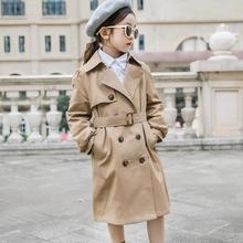 2019 spring autumn new girls trench jackets solid children windbreaker coats fas