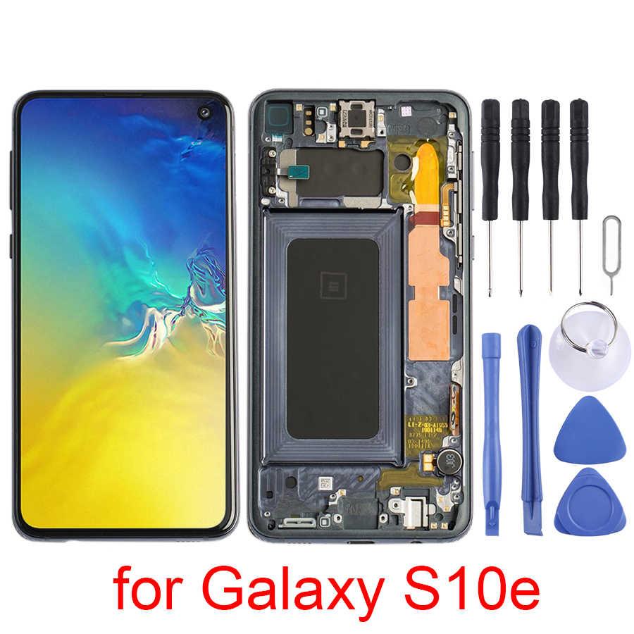 شاشة LCD و محول الأرقام الجمعية كاملة مع الإطار ل غالاكسي S10e/غالاكسي S10