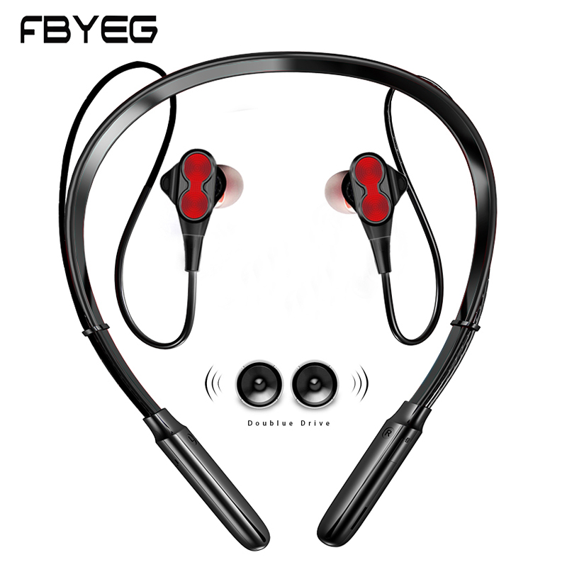 Wireless Bluetooth Earphone Wireless Headphones Double Driver Earbuds Bass Sport Four Speakers For Mobile Phone Surround Sound