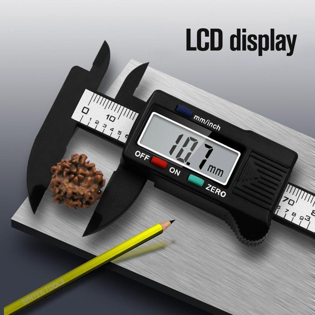 0 100mm precisão digital eletrônico lcd vernier pinça ferramenta régua ferramentas de medição calibre calibre vernier Pinças    -