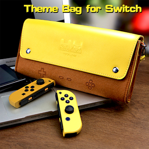 Image 1 - For Nintend Switch leather Case Soft Carry Travel Bag Console Accessories Portable Storage Shell Pikachu1 Mario1 Eevee1