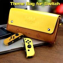 Кожаный чехол книжка для Nintendo, мягкая переносная сумка для путешествий, аксессуары для консоли, портативный чехол для хранения Pikachu1 Mario1 eeve1
