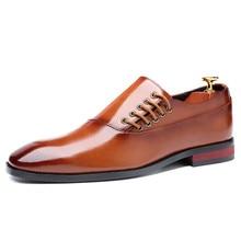 Men Shoes Business-Dress Oxfords-Size Classic Men's Fashion New XPAY Suits Slip-On 37-48