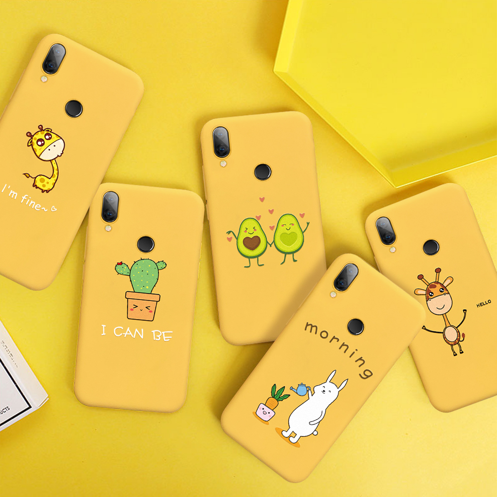 Candy Color Silicone Case For Xiaomi Mi A2 3 Lite Yellow Thin Tpu Phone Back Cover Coque Funda For Redmi 6 7 7A Note 6 7 Pro K20