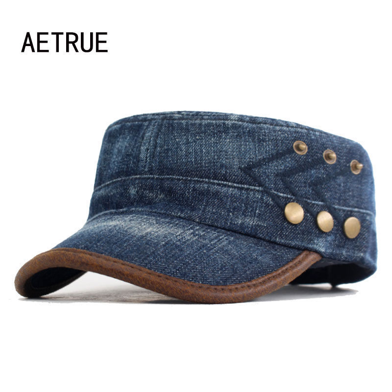 Fashion Jeans Denim Men Military Hats Women Vintage Cotton Dad Gorras Sport Planas Army Hats For Men Snapback Military Cap Hat