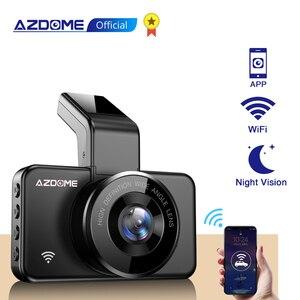 AZDOME M17 Dash Cam WIFI Video Recorder FHD 1080P Car Camera ADAS Car DVR 24H Parking Monitor Dual Lens Night Vision DashCam